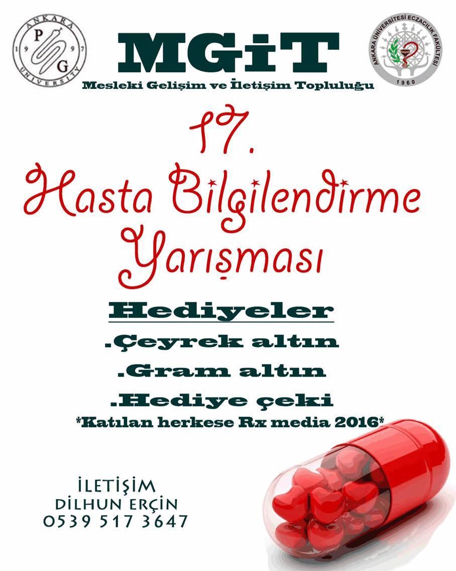 17.Hasta bilgilendirme Yarışması Afişi